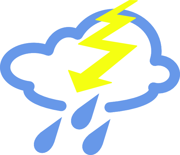 png free vector Thunder Storms Weather Symbol clip art graphic available