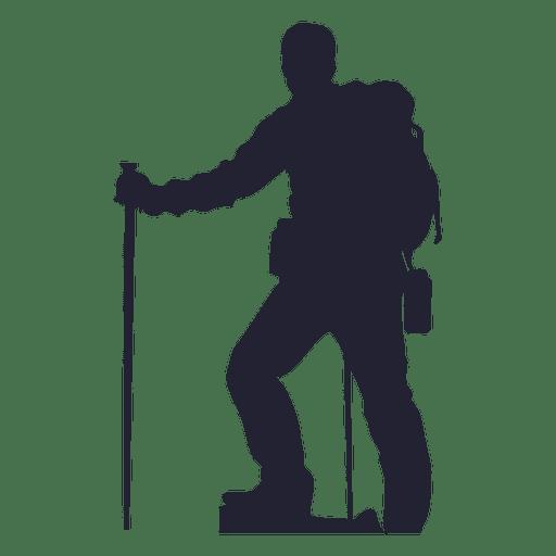 clip art transparent stock Climber clipart backpacker. Hiking man silhouette transparent.