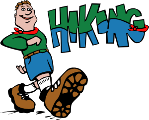 clip art black and white library Hiker art at clker. Hiking clip