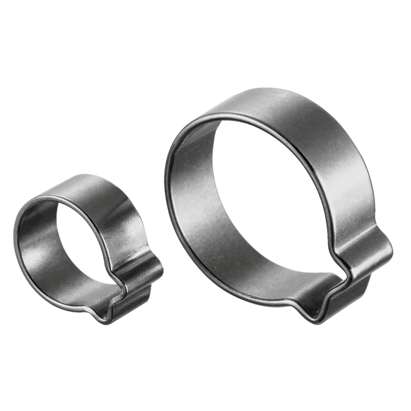 banner black and white library Hiking clip stainless steel. Single ear o clips
