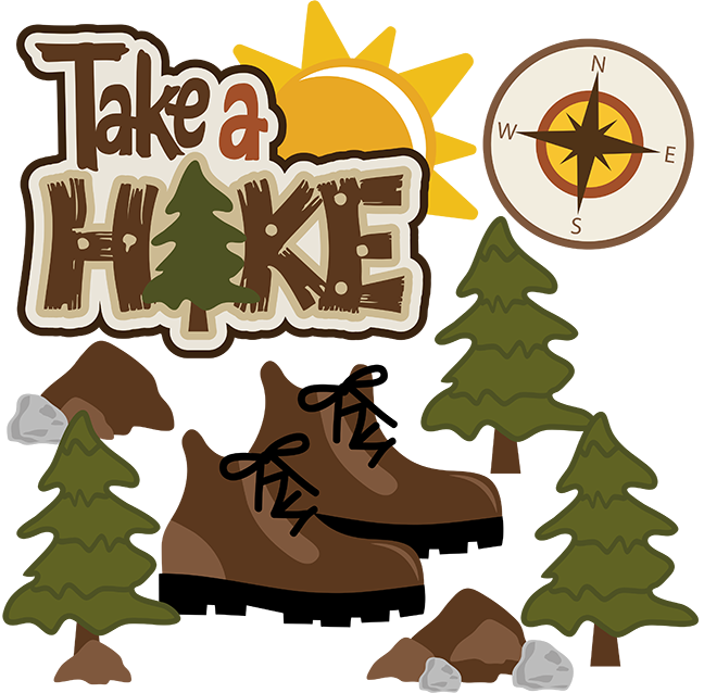 clip library download Outdoors clipart camp sign. Take a hike svg