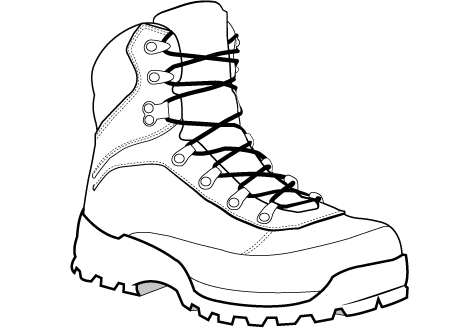 vector library library Hiking boot at getdrawings. Drawing sneakers perspective