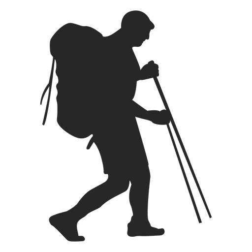 graphic freeuse download Hiking silhouette