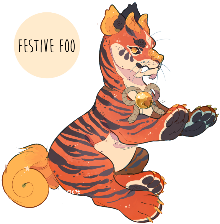 image freeuse download Festive Foo Plush Dragon Auction SOLD by stormcat