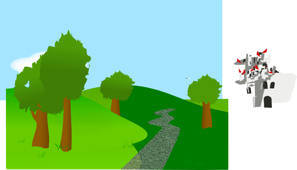 banner transparent stock Background With Trees And Hills Clip Art at Clker
