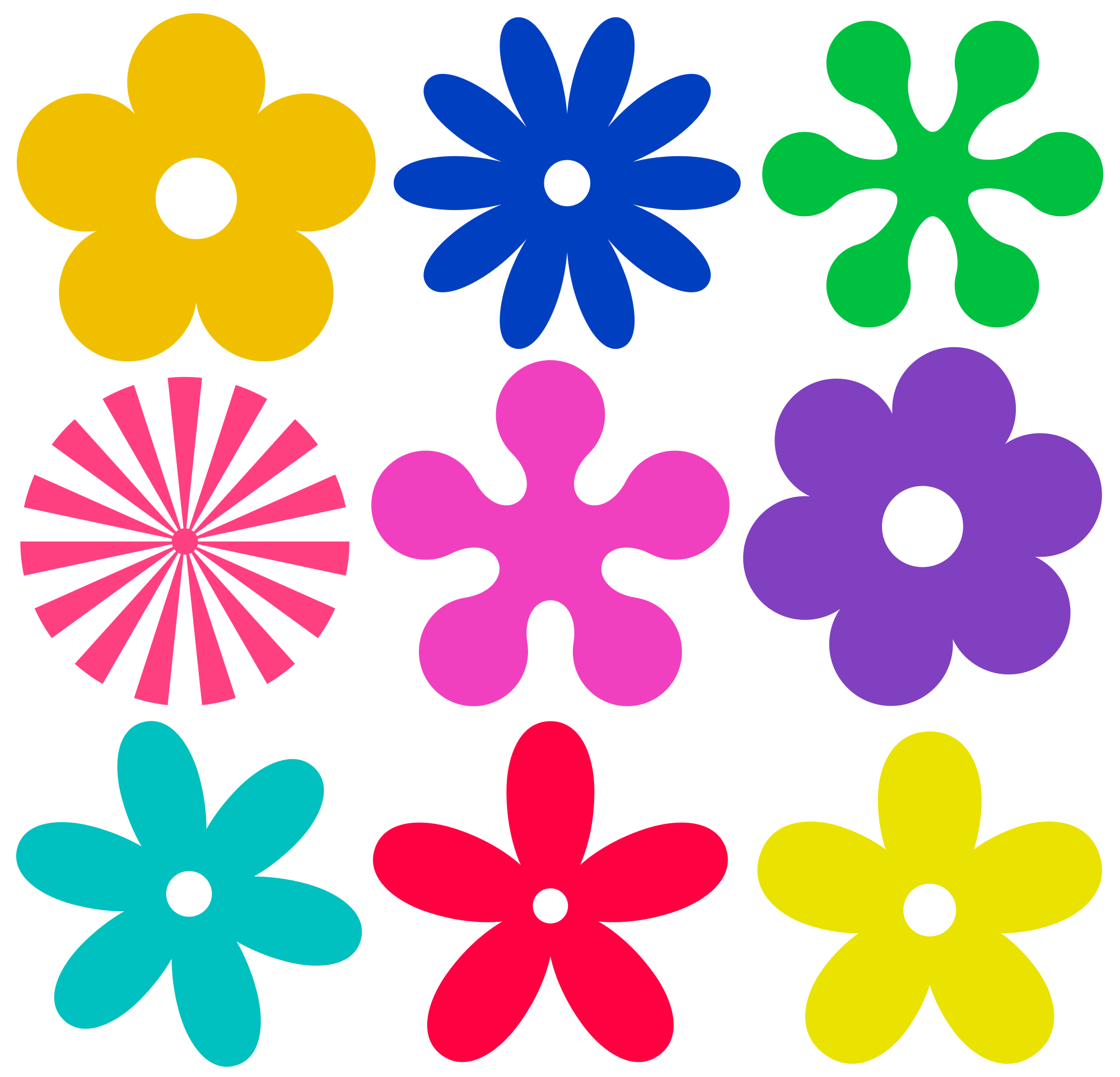 jpg transparent stock Hippie flowers png file. Vector color retro