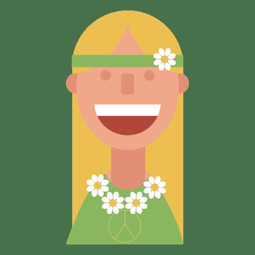 clip freeuse download Flower children woman transparent. Hippie vector