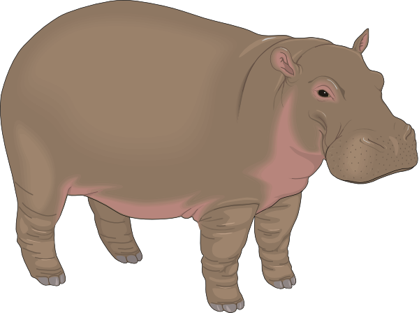clip art freeuse download Grey free on dumielauxepices. Hippo clipart