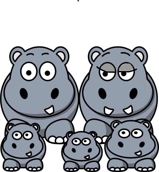 picture freeuse Hippo clipart. Family clip art at