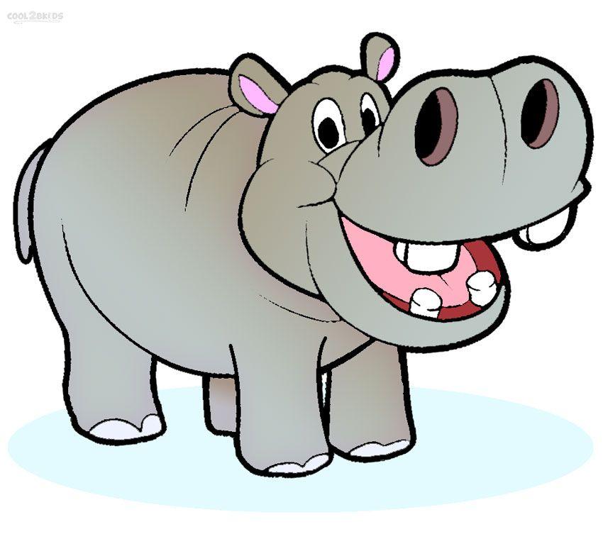 image black and white Hippo clipart. Free cartoon imagebasket net