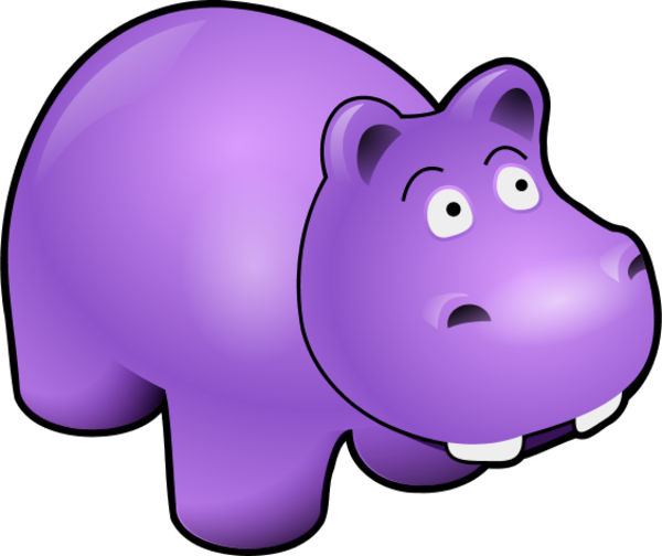 jpg transparent Purple Hippo Clipart