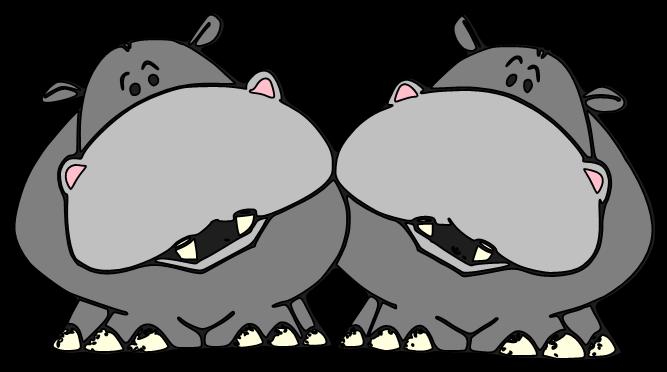 freeuse stock Christmas hippo free on. Hippopotamus clipart.