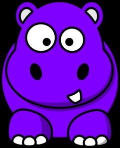 clip art stock Purple Hippo Clip Art at Clker
