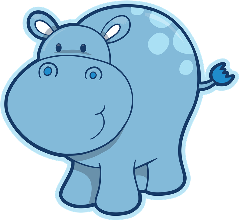 banner free stock Hippo Clipart transparent background