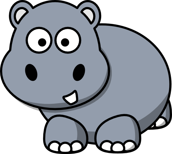graphic royalty free download Small clipart hippo