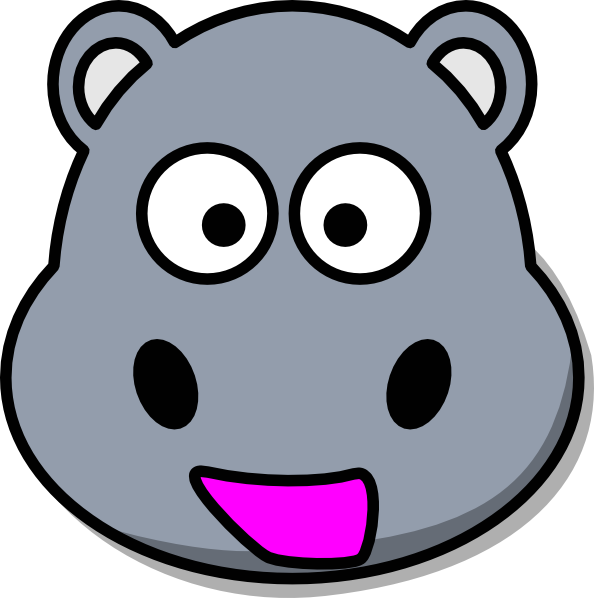 picture freeuse Hippo clip art at. Zebra head clipart