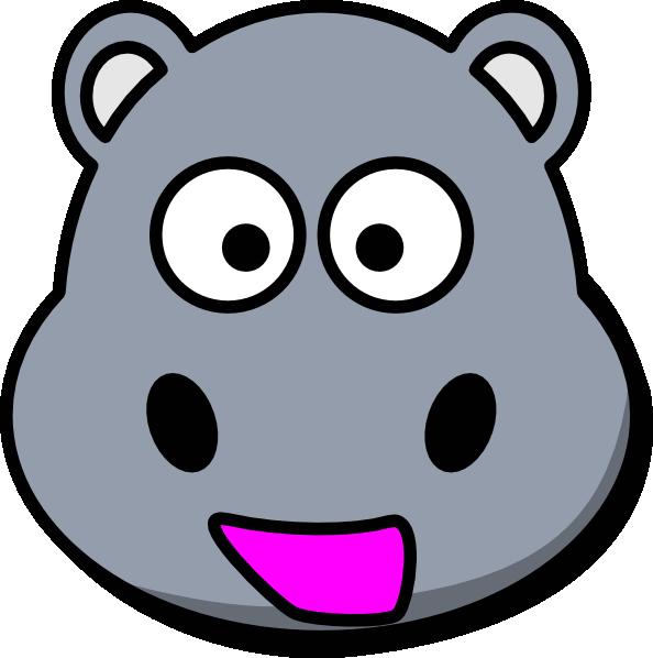 picture freeuse Hippo clip art at. Zebra head clipart.