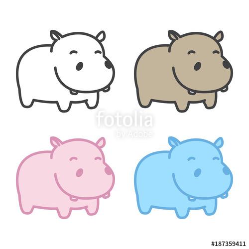clip art free library Hippo vector. Hippopotamus icon logo cartoon