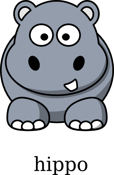 jpg black and white download Hippo vector. Clip art at clker