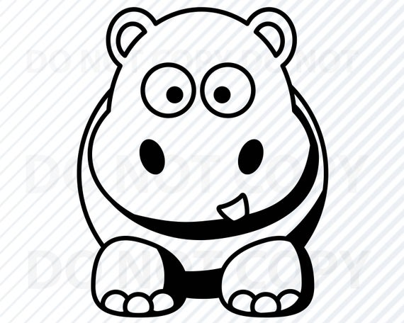 picture black and white library Svg files images clipart. Hippo vector