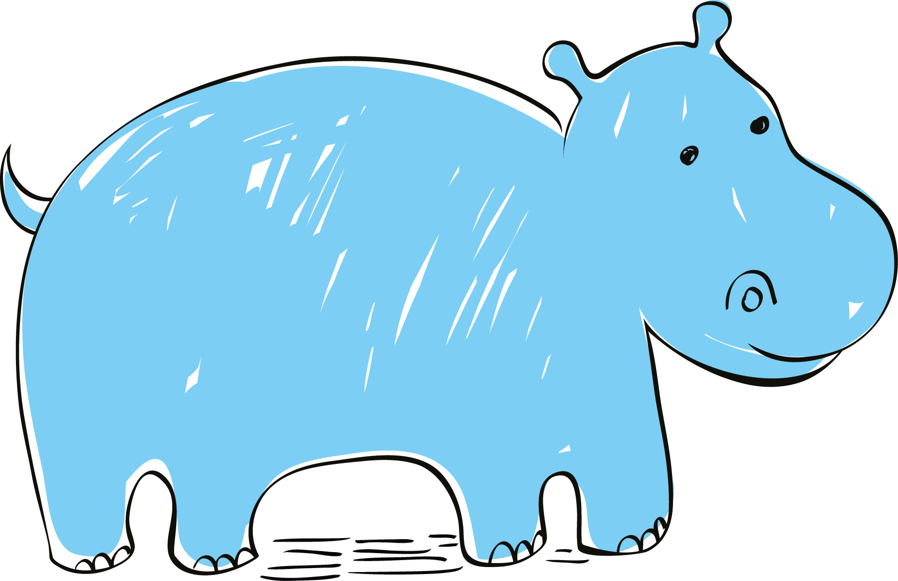 banner royalty free stock Hippo vector. Hippopotamus euclidean clip art