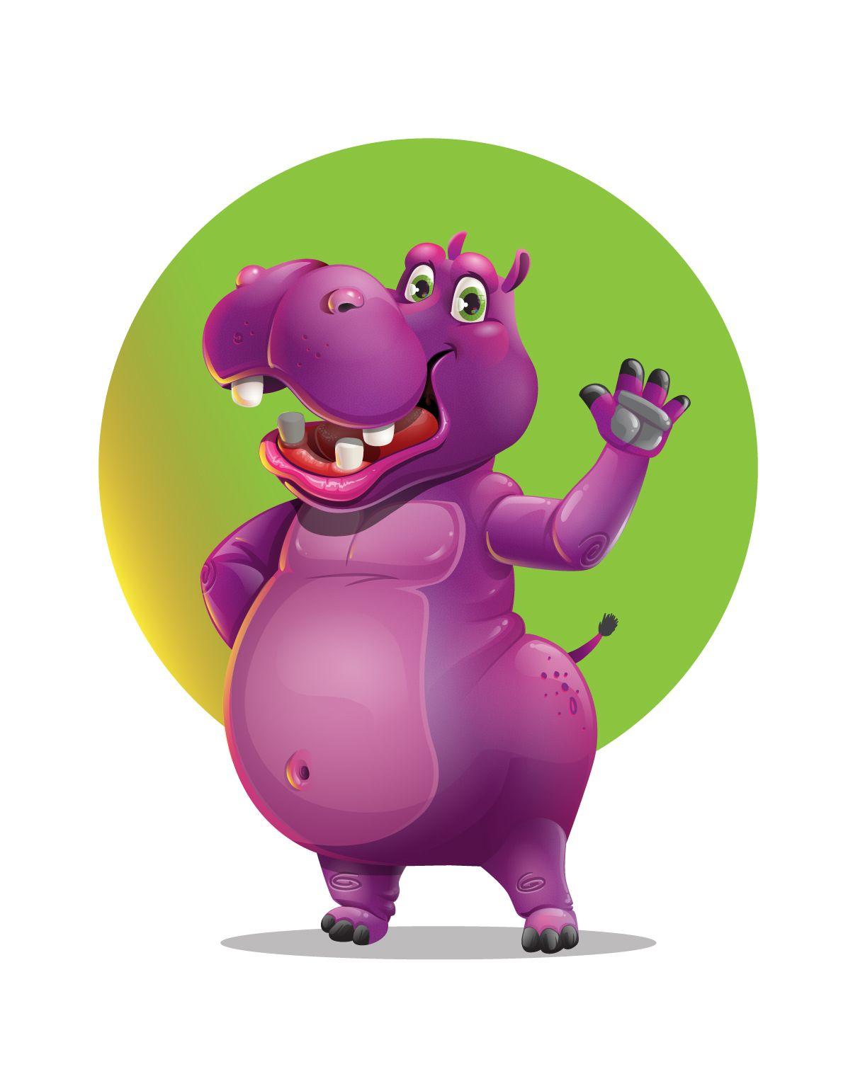 jpg freeuse stock Hippo vector. Pin on cartoon images