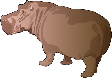 picture transparent library Hippo mammal free on. Hippopotamus clipart
