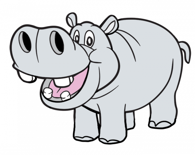 svg free Realistic animal free on. Hippopotamus clipart