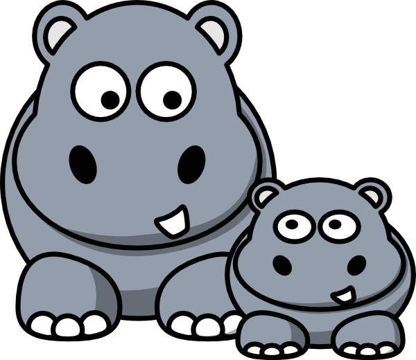clip art download Christmas . Hippopotamus clipart.