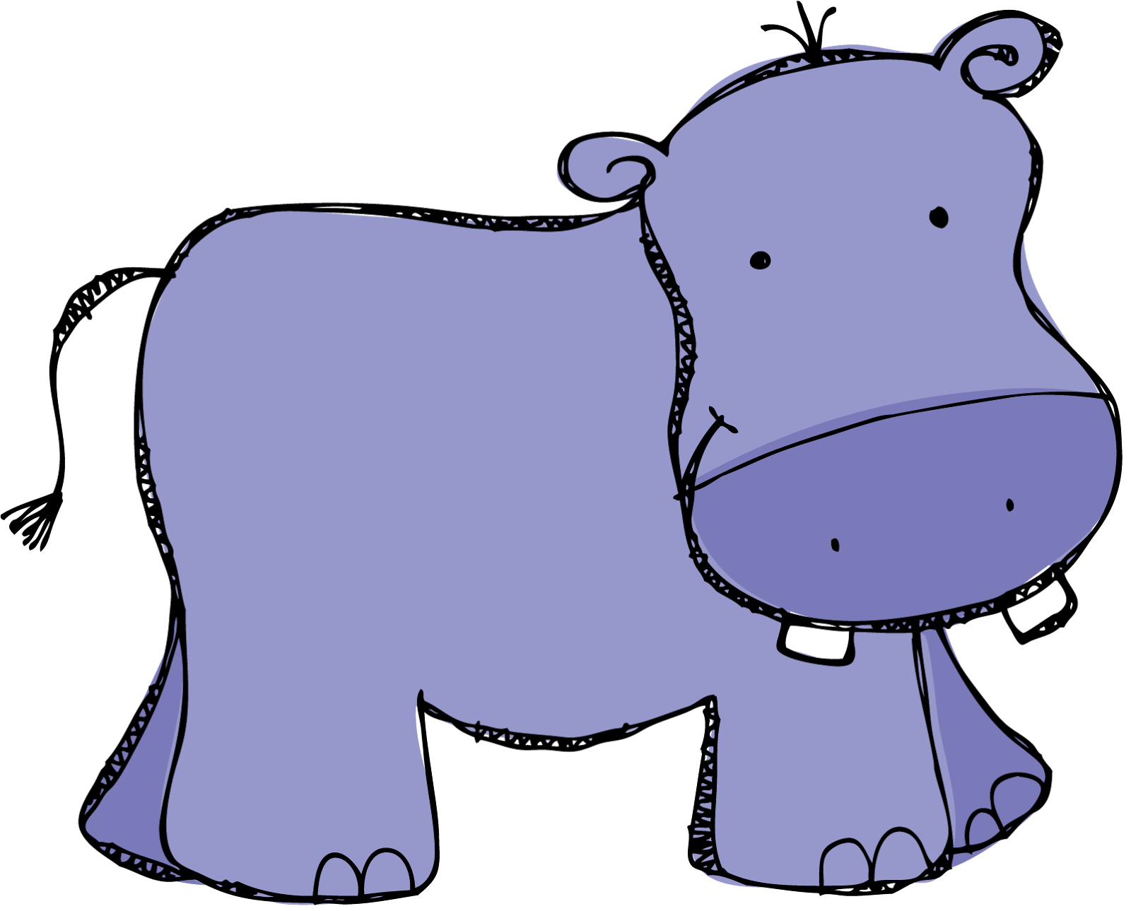 clipart library stock Hippopotamus clipart. Happiness is watermelon shaped