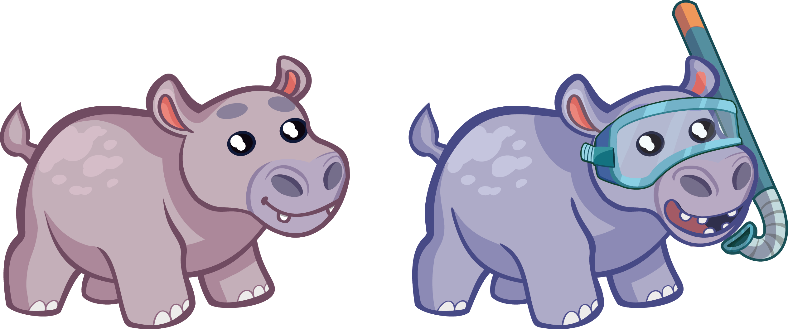 svg library download . Hippopotamus clipart realistic animal