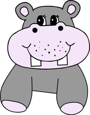 clipart download Purple hippo free on. Hippopotamus clipart realistic animal