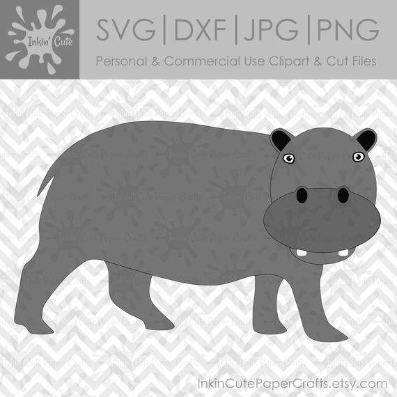 svg freeuse download Hippopotamus clipart realistic animal. Hippo svg safari animals