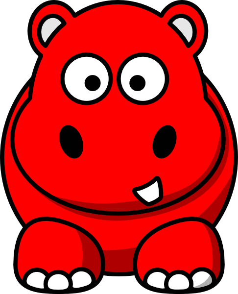 freeuse download Red Hippo Clip Art at Clker