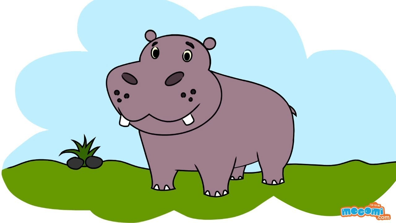 banner freeuse download How to draw a. Hippopotamus drawing.