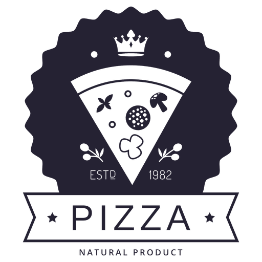clipart black and white download Pizza logo transparent png. Hipster vector