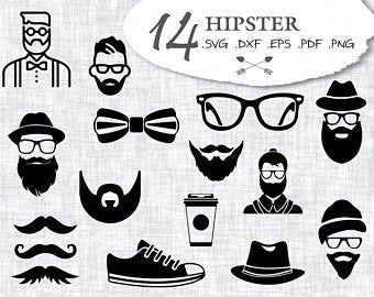 svg black and white download Hipster vector. Etsy