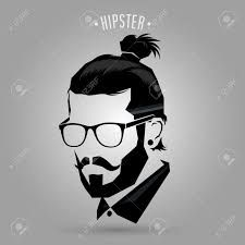 clip art black and white stock hipster vector beared #138923036