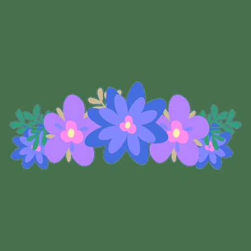 free download Hipster vector flower. Violet blue crown transparent