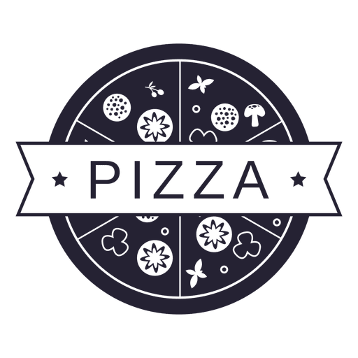 picture black and white library Pizza food restaurant logo
