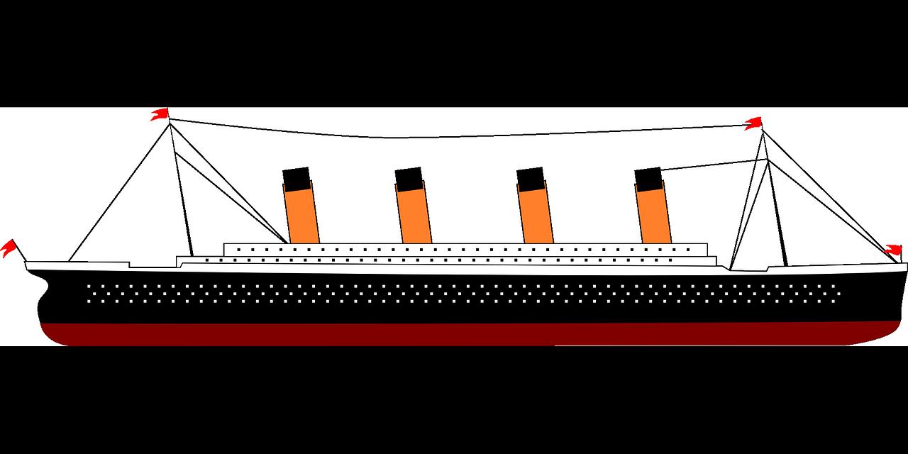 vector freeuse stock history drawing titanic #97768911