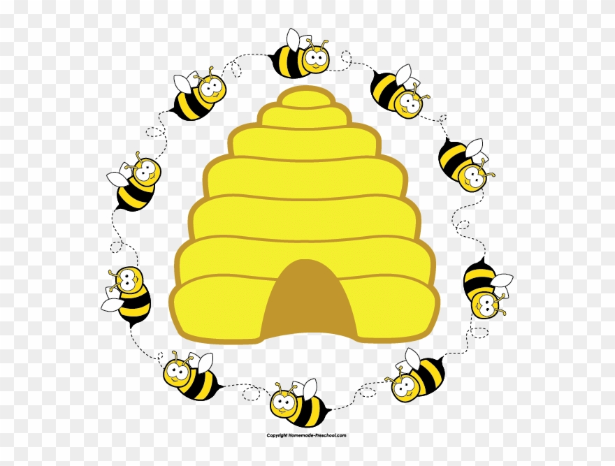 image download Hive clipart border. Image of bees png