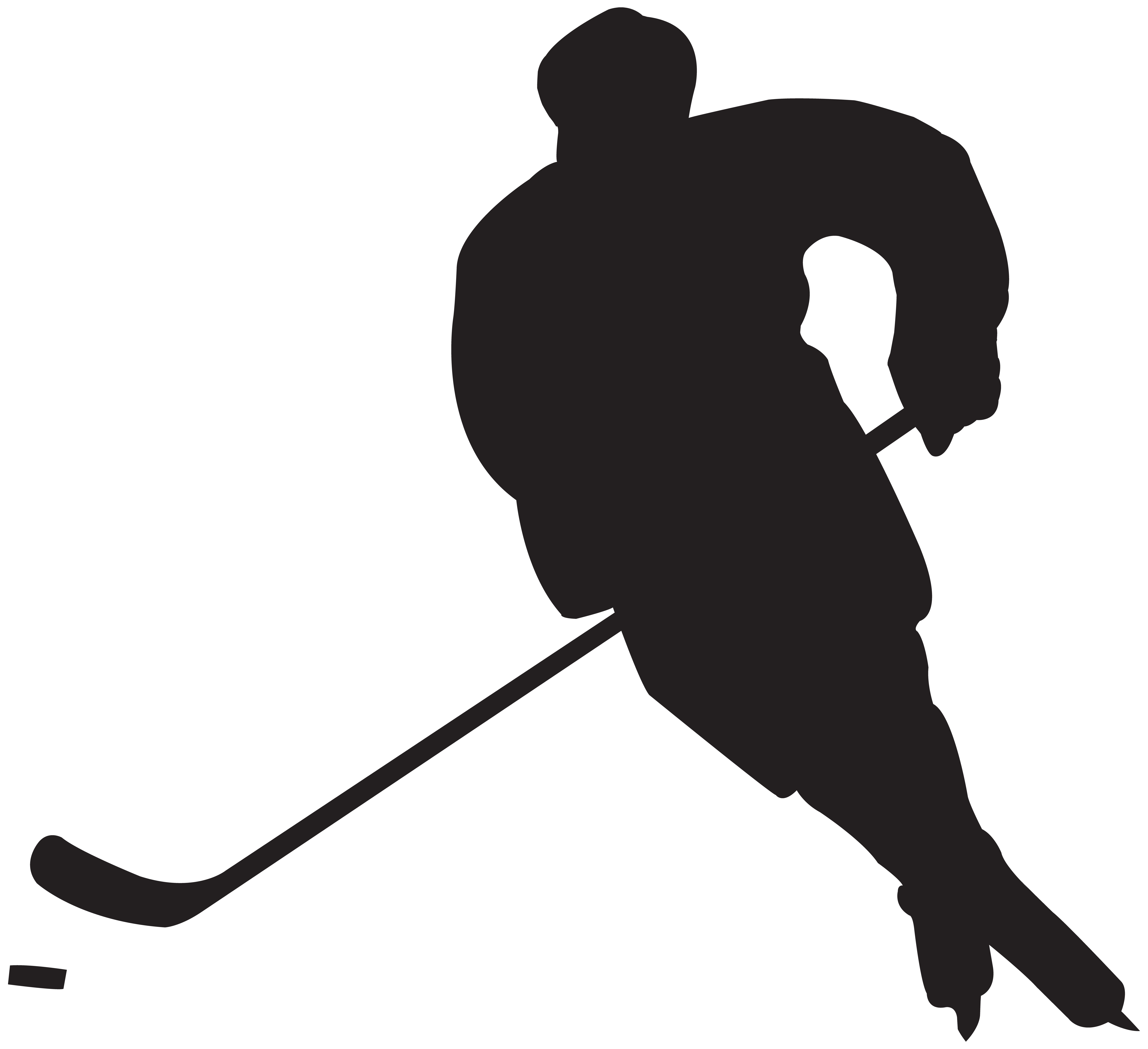 clip art transparent download Hockey clipart. Player silhouette png clip.
