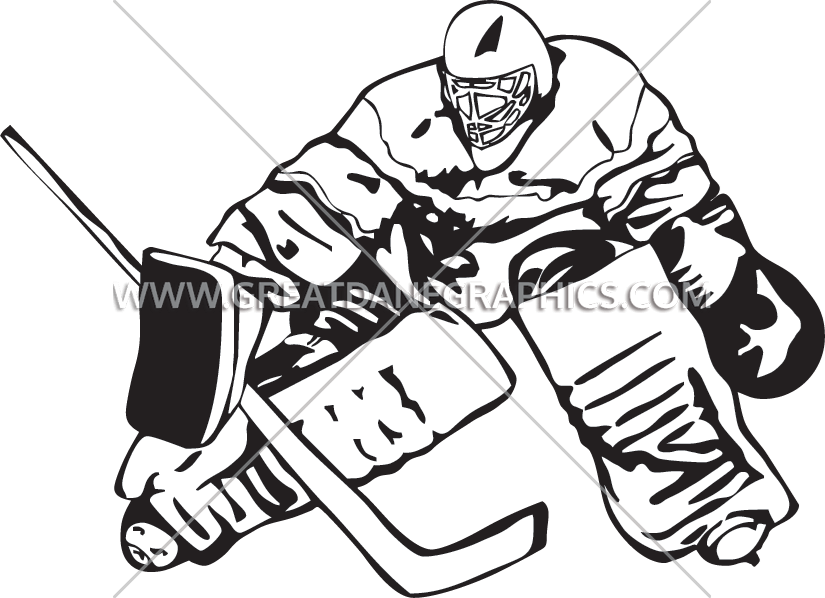 graphic stock Hockey Goalie Block