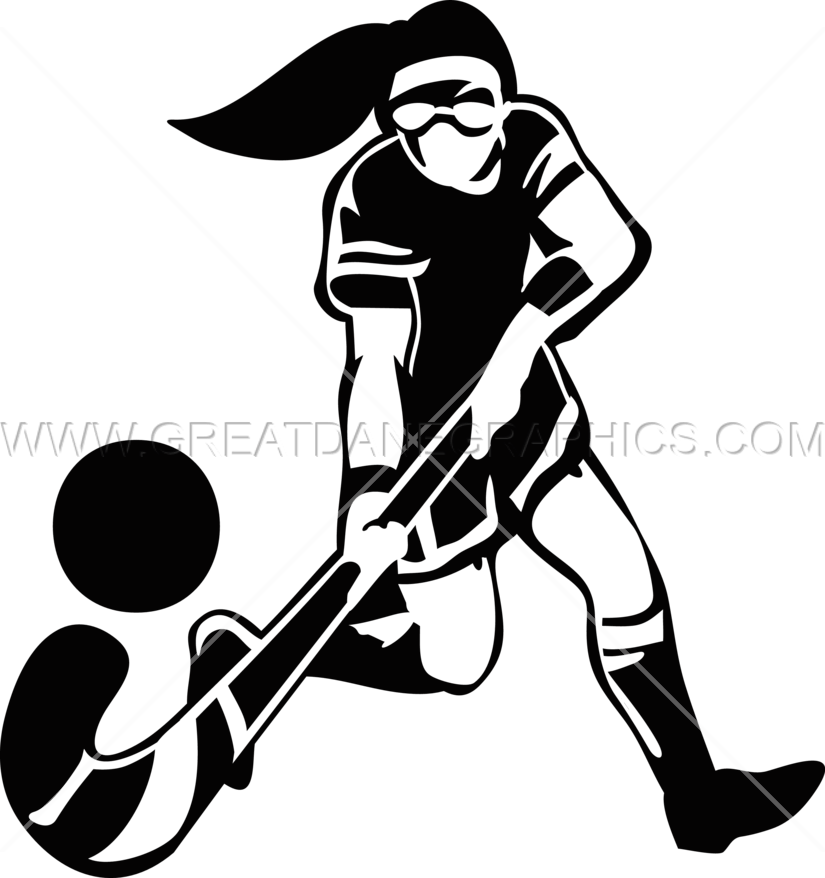 image black and white library Girl silhouette at getdrawings. Hockey player clipart black and white