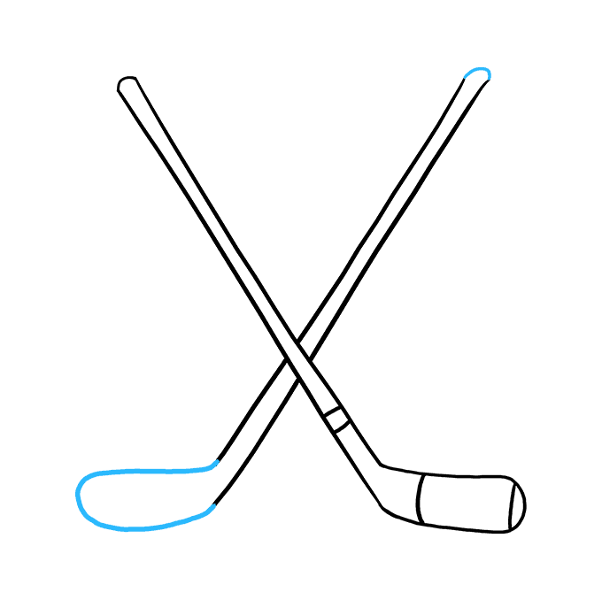 image royalty free Drawing sticks easy. How to draw hockey