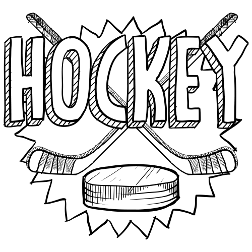 clip transparent download Hockey Coloring Page