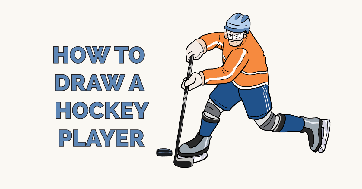 png royalty free library How to Draw a Hockey Player