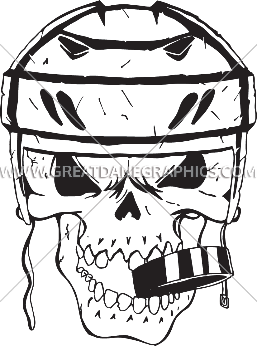 clipart library download Hockey Skull