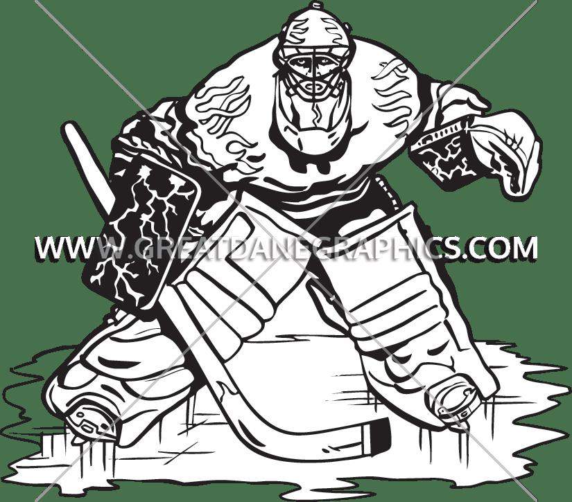 image free Goalie Drawing at GetDrawings
